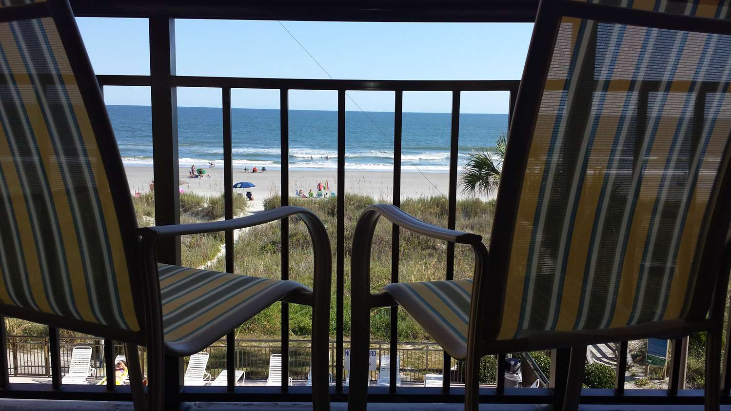 View From Guest Room Balcony