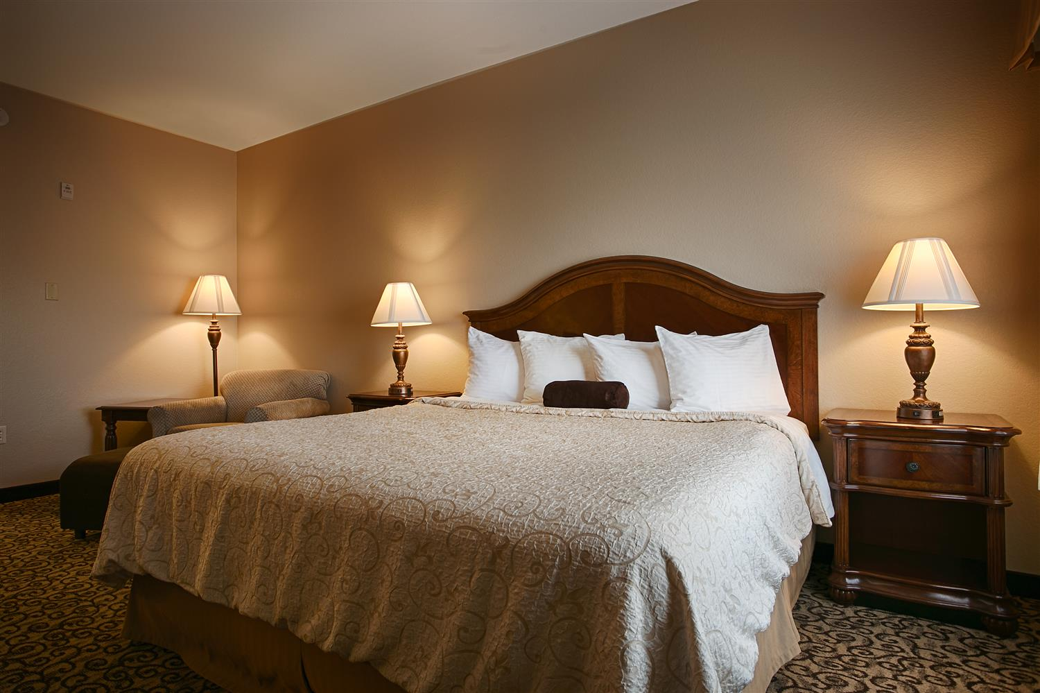 This Room Features 1 King Sized Bed